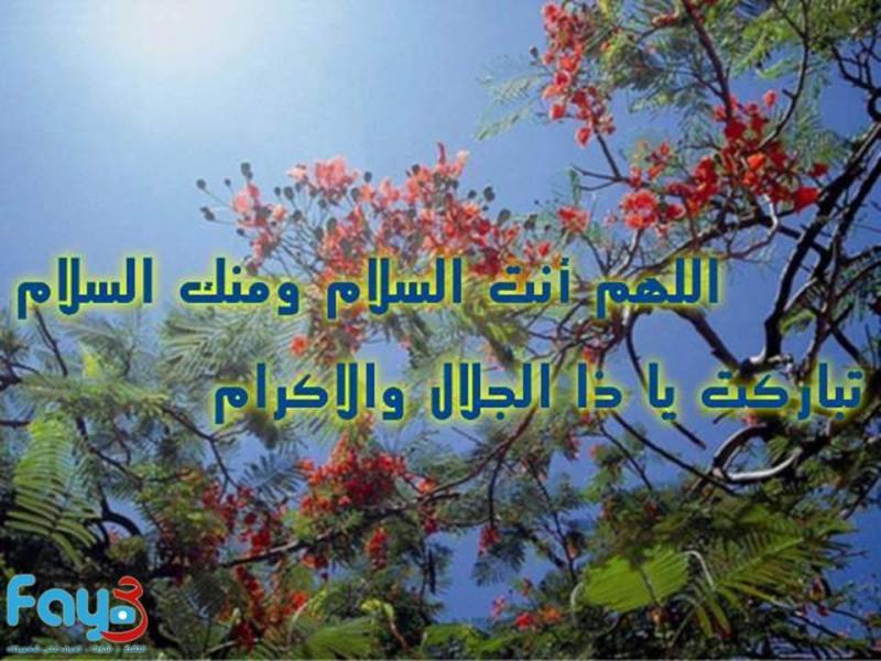 #دعاء اللهم انت السلام ومنك السلام