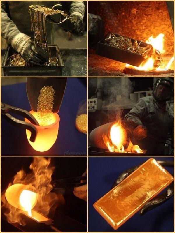 تعرف كيف تصنع سبائك الذهب ؟؟