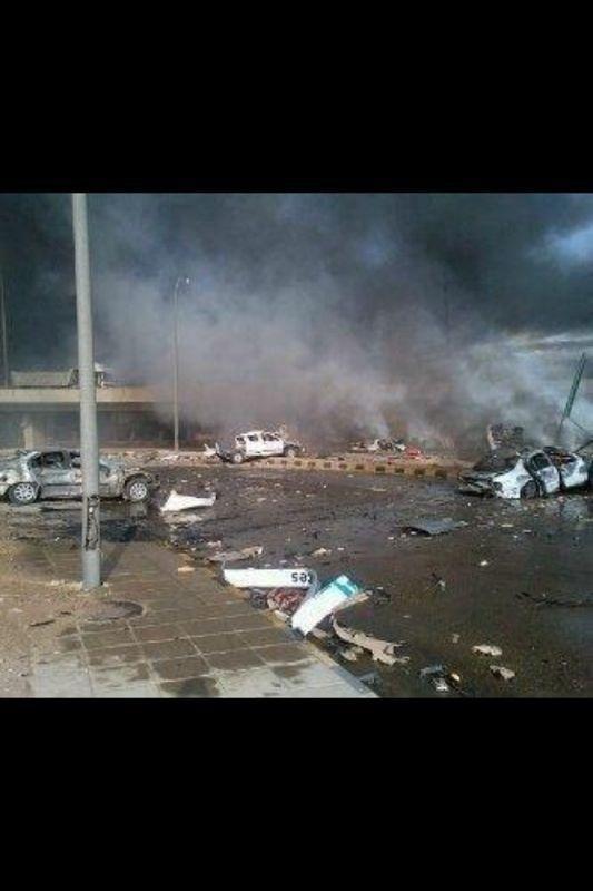 صورة انفجار صهريج محروقات في #السعودية