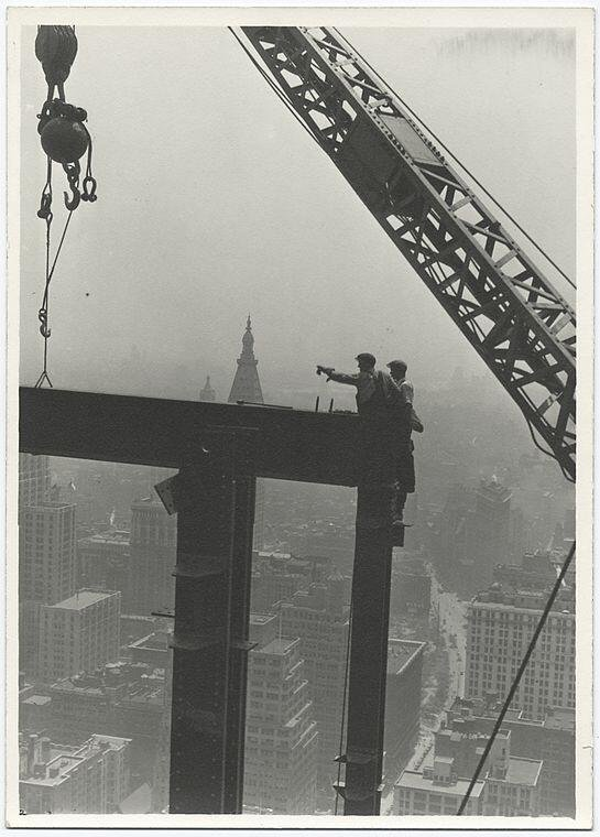 Construction workers on the Empire State Building, c. 1930