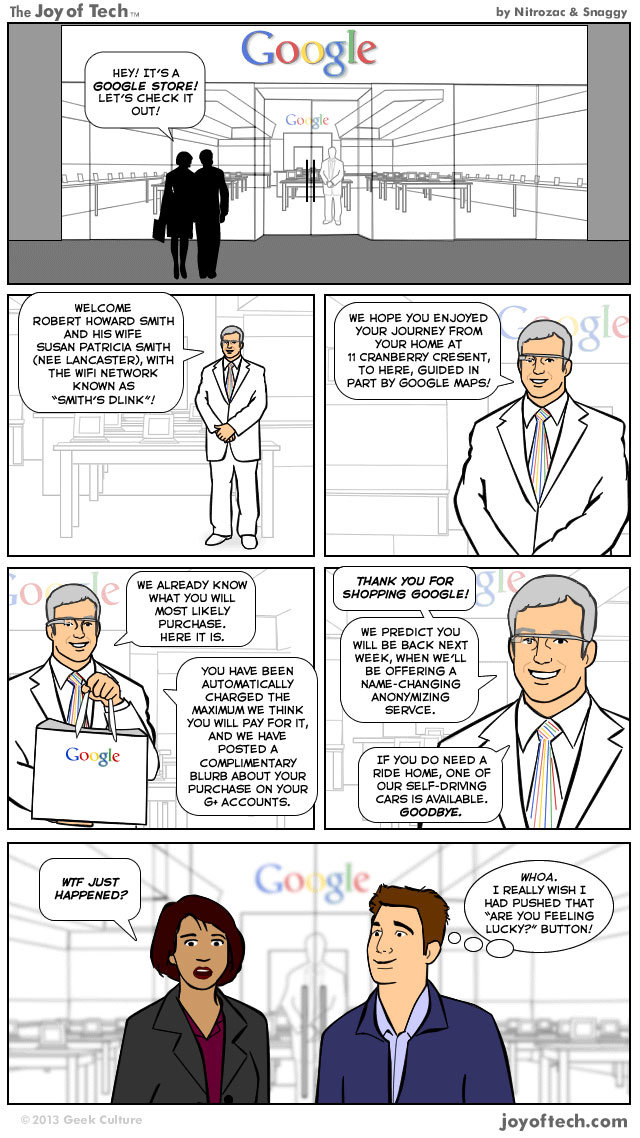 The #Google Store Experience #Comic