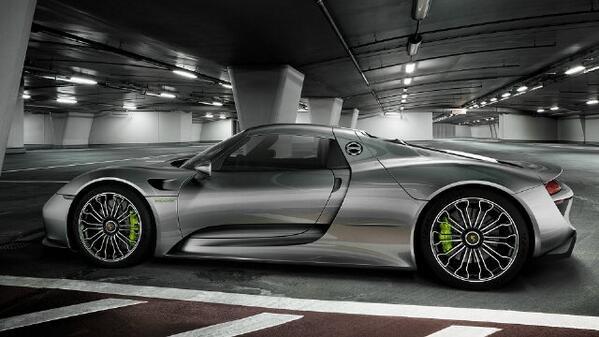 #Porsche #918 #spyder #grey #silver