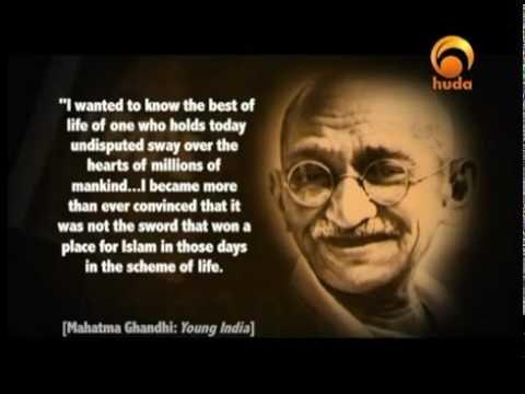 غاندي و #الإسلام