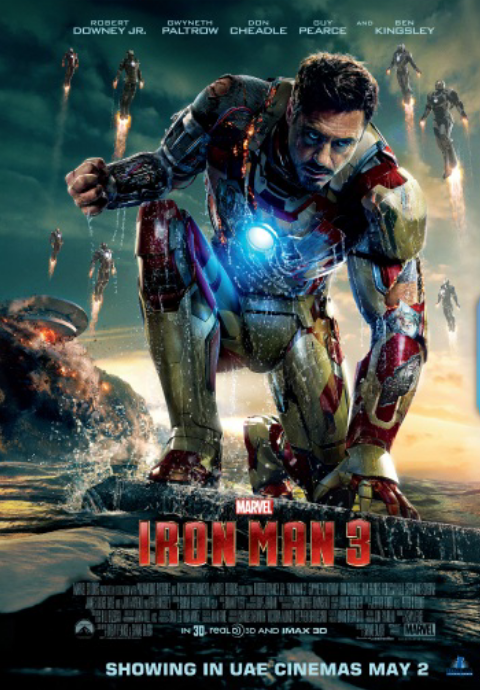 Iron Man 3 will be in UAE cinemas starting 2nd of may