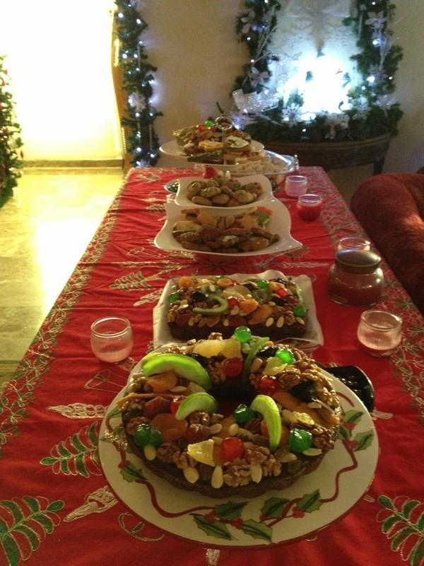 مائدة منزلية من #الفحيص #الأردن للاحتفال بمناسبة #رأس_السنة
