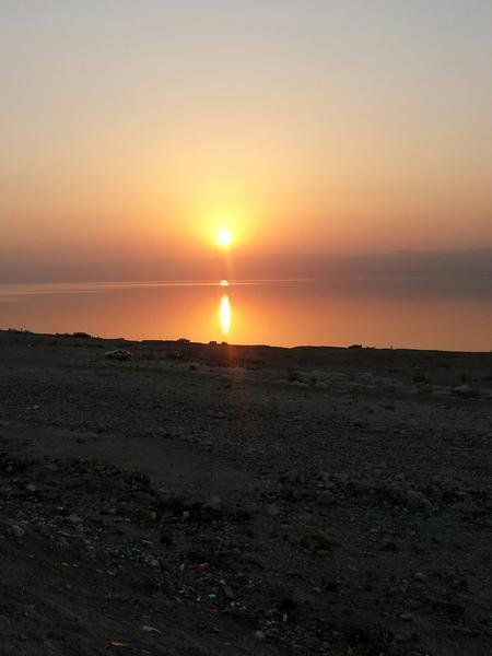 غروب الشمس في البحر الميت #الأغوار #الأردن