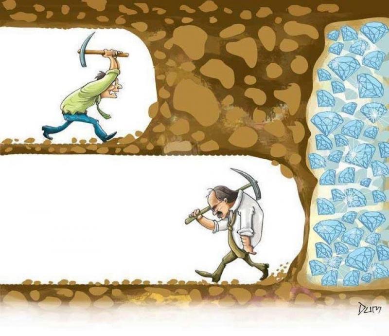 بعض الناس يحبط قبل لحظات من النجاح