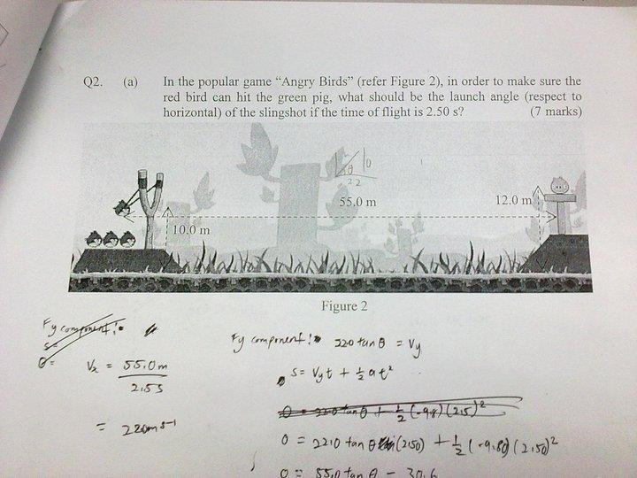لعبة #الطيور_الغاضبة #أنغري_بردز و #الفيزياء