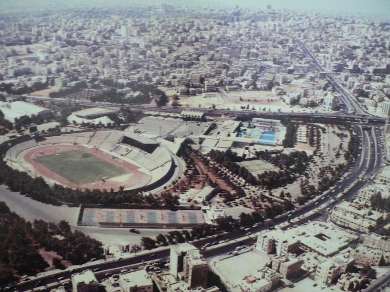صورة جوية لمنطقة المدينة الرياضية في #عمان #الأردن