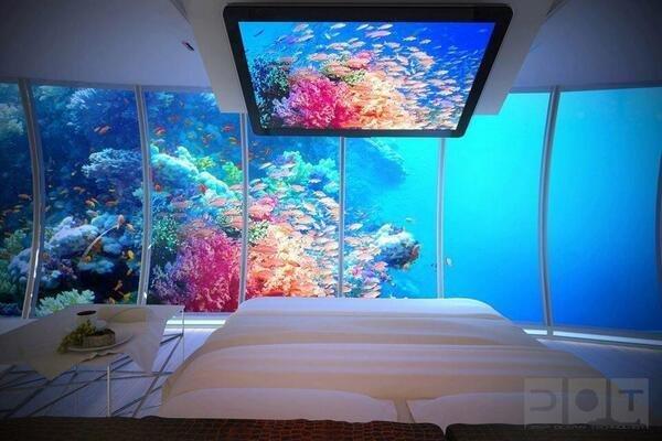 Under Water Room in Bora Bora