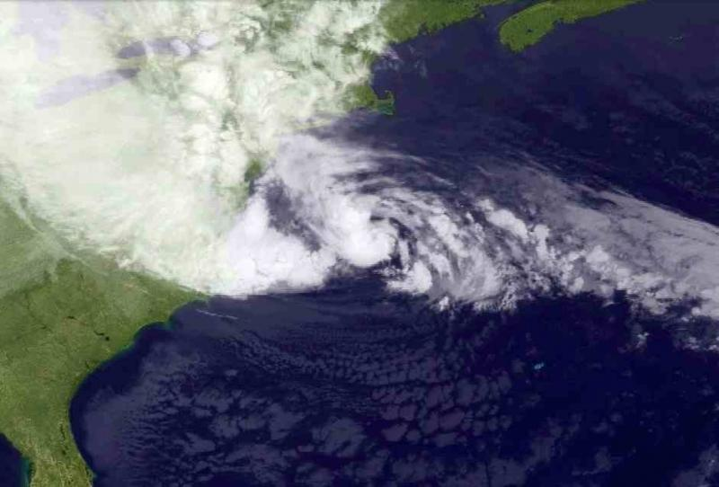 Latest sattelite picture for hurricane Sandy
