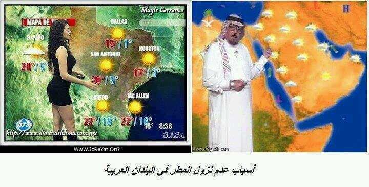عشان هيك المطر محبوس علينا ..