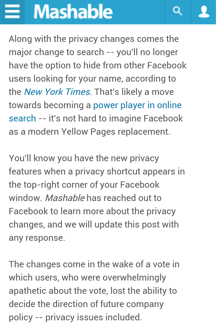 You will no longer be able to hide from #Facebook users