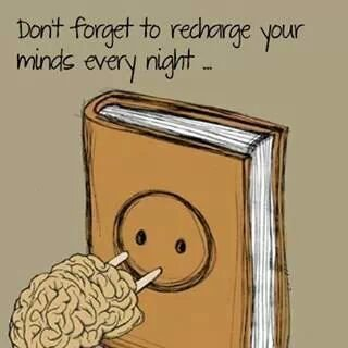 Don't forget to recharge your minds