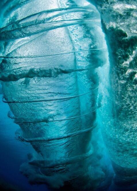 Underwater tornado