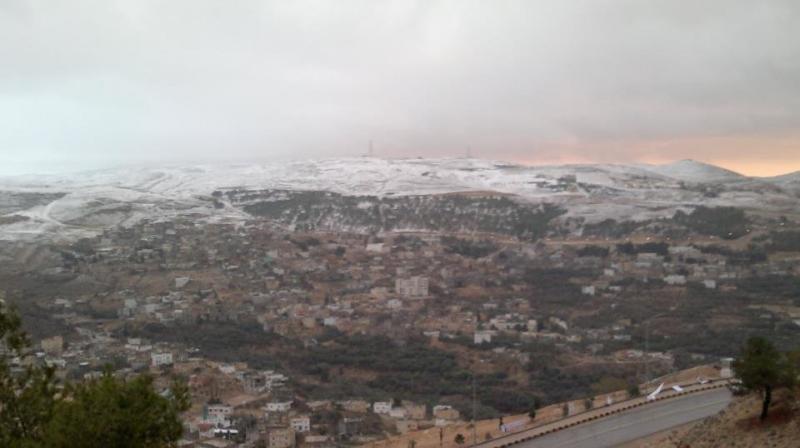 محافظة #الطفيلة #الأردن مكسوة بالثلوج