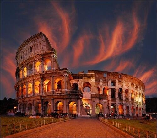 Sunset at the Colosseum, Rome, Italy