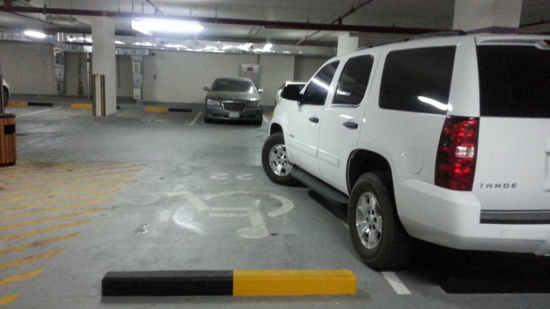 Ok, he/she didn't take the handicapped parking, but he blocked it