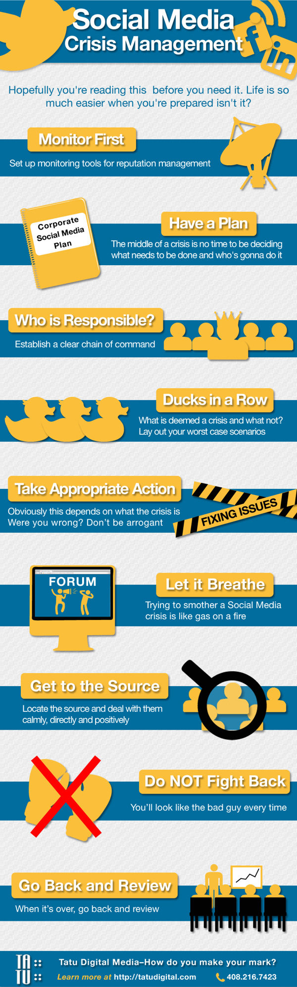 Social media crisis management #infographic