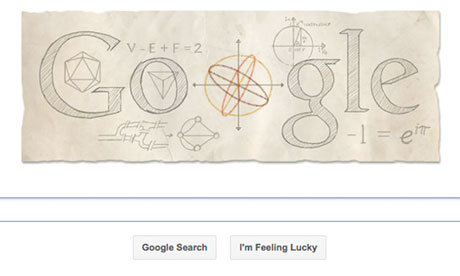Leonhard Euler honoured by #Google doodle