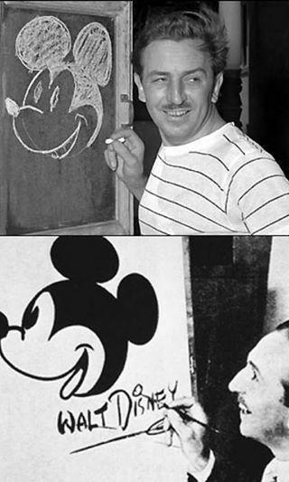 والت ديزني مبتكر شخصية ((ميكي & ماوس)).
