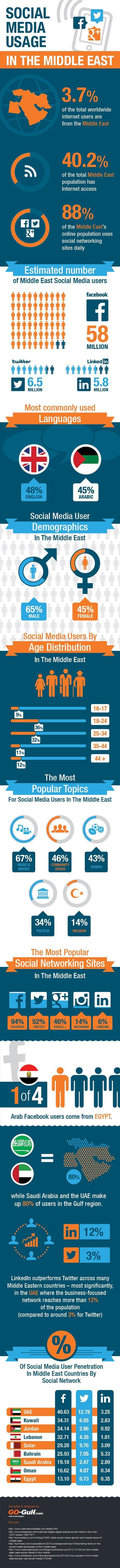 Social Media Usage in The Middle East