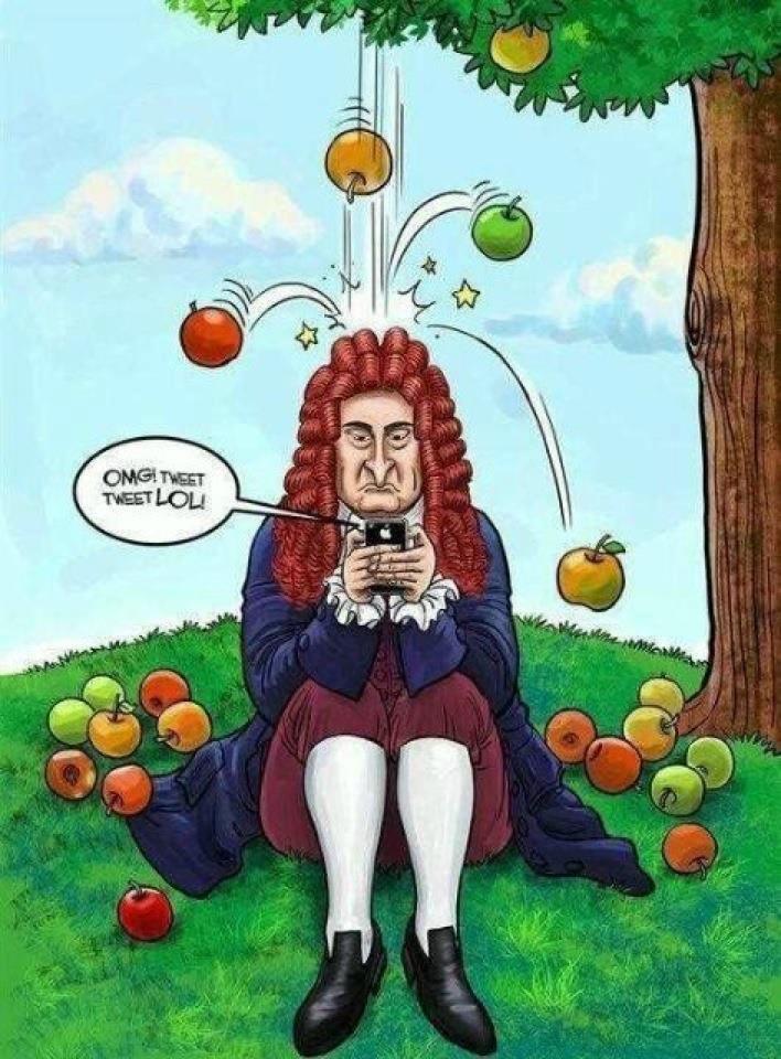 اسحاق نيوتن يغرد على تويتر