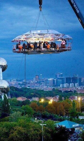 Hanging Restaurant, #Belgium