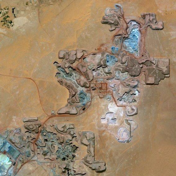 A uranium mine in Arlit, an industrial town in Niger