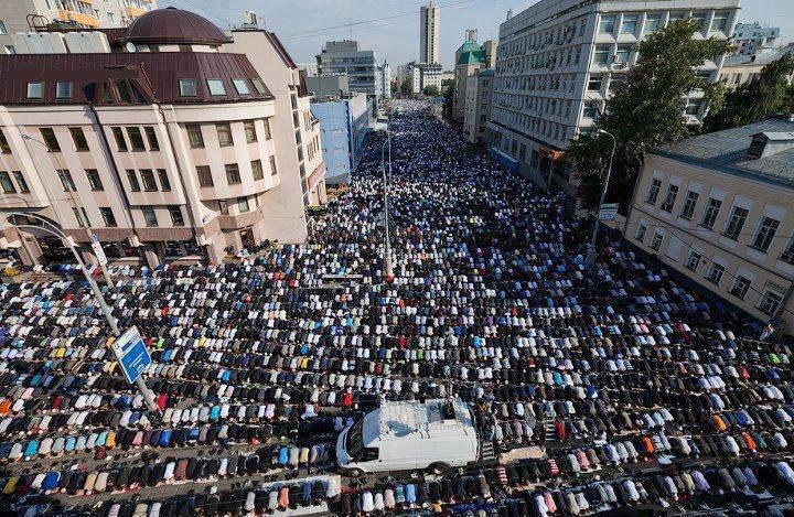صلاة العيد في روسيا
