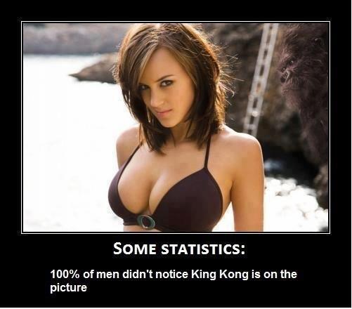 100% من الرجال لم يلاحظوا الغوريلا في الخلفية