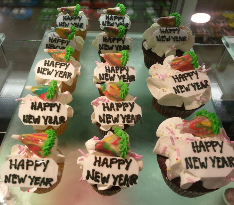 New Year #Cupcakes in Khaldieh Mall #AbuDhabi