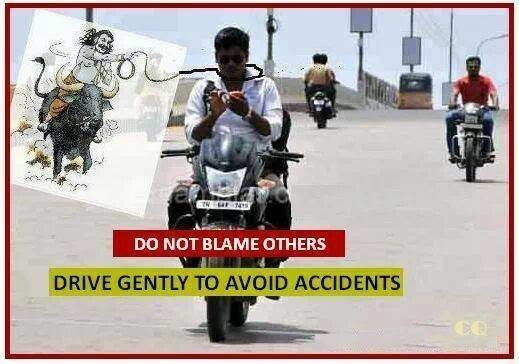 Drive gently to aviod accidents