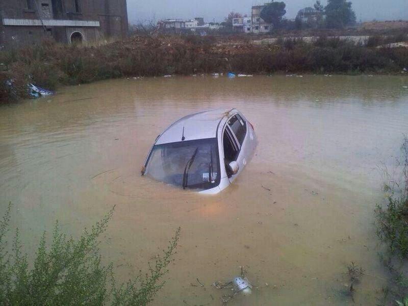 مبنى الحقوق الجامعه اللبنانية #بيروت_تغرق
