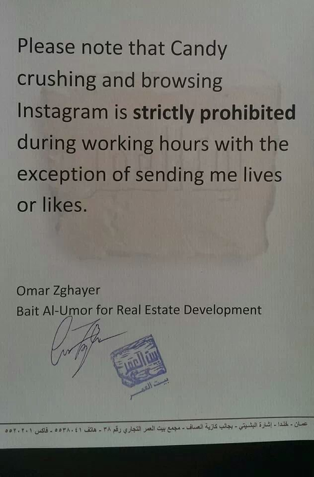 Pinned at thier office ,funny policy