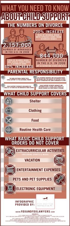 What you need to know about child support #infographic