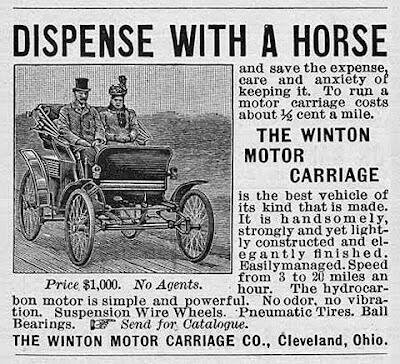 The first car advertisement in history, 1898