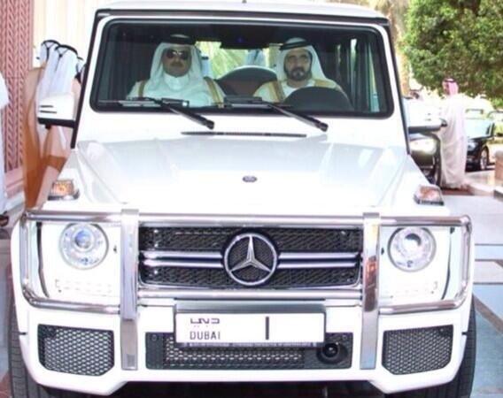 الشيخ محمد بن راشد حاكم دبي وسمو أمير قطر #دبي