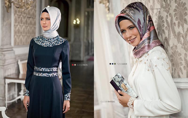 ملابس #محجبات #حجاب : موديلات #فساتين طويلة روعة #بنات - صورة 7