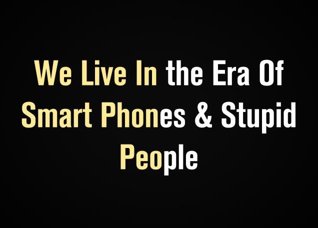 smart phones and people