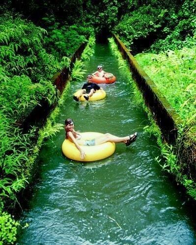 Canal Tubing, Kauai, Hawaii