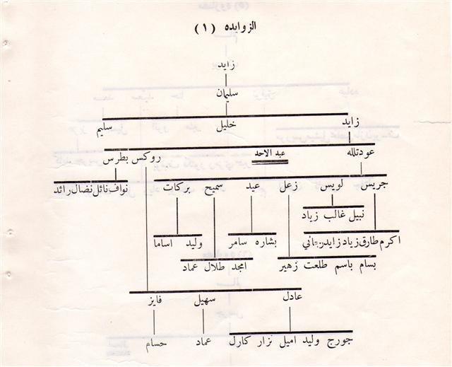 شجرة عائلة الزوايدة #مادبا #الأردن