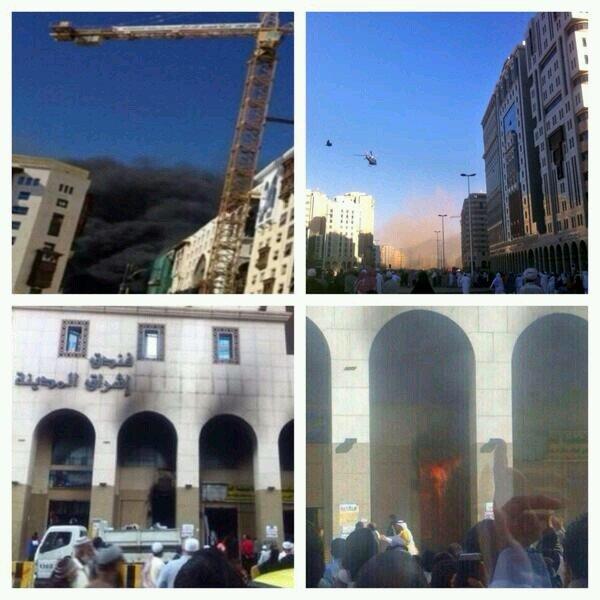 المزيد من صور حريق فندق المدينة - السعودية