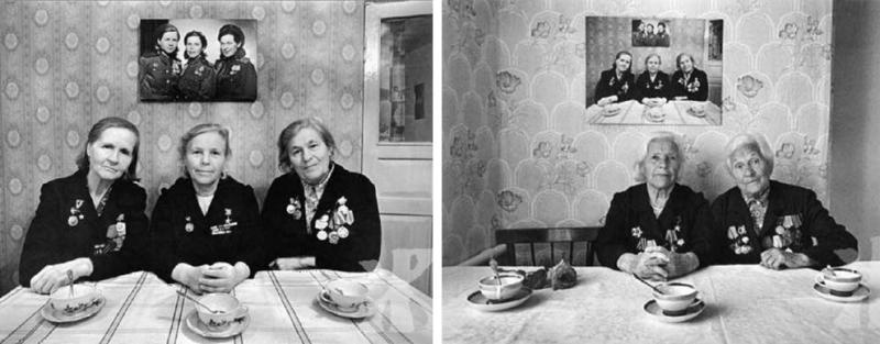 Sisters pose for the same photo three separate times, years apart