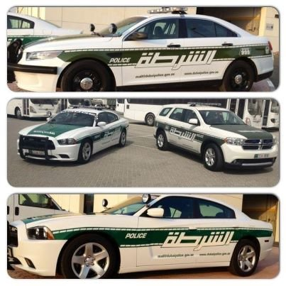 احدى #سيارات شرطة #دبي