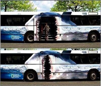 National Geograpic bus ad