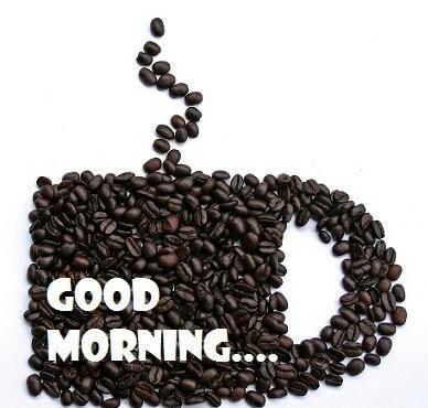 #صباح_الخير بحبوب القهوة