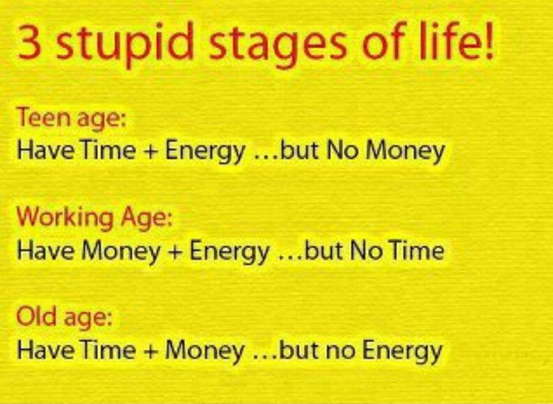 Three Stupid stages of life