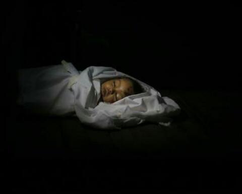 الطفلة حنين طافش ذات العشر شهور التي اغتالها العدو المحتل #فلسطين