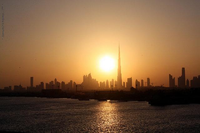 غروب الشمس في #دبي
